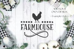 Farmhouse Framed Border Background Flatlay Styled Photo Product Image 3