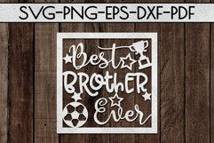 Best Brother Ever Paper cut Template, Sibling SVG, PDF Product Image 2