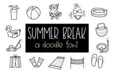 Summer Break / Summer Doodle Font  Product Image 1