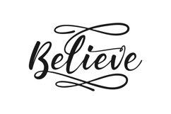 BELIEVE SVG | BELIEVE CRICUT | BELIEVE SILHOUETTE CRAFT Product Image 2