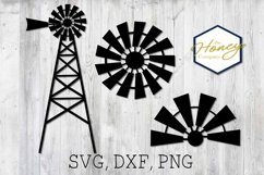 Home SVG PNG DXF Farm Windmill Sign Cutting File Vector Product Image 1