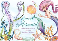 Mermaid clipart Product Image 1