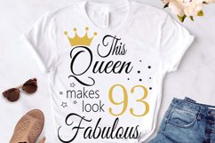 Birthday Svg, 93 Birthday svg, 93 Birthday clipart, happy bi Product Image 3