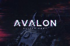 Avalon - Glitch Font Product Image 1