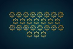 Diamond Mandala Monogram Split Font Duo Product Image 7