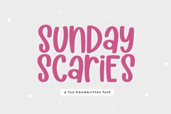 Sunday Scaries - A Fun Handwritten Font Product Image 1
