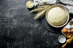 20 Photos Dough background. Dough preparation. Ingredients. Product Image 3