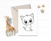 Cute kitten clipart, SVG, PNG, EPS Product Image 3