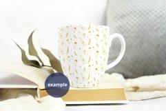 Neutral background Bistro mug mockup PSD, full wrap mockup Product Image 3