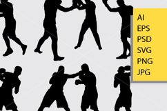 Boxing fight silhouette Product Image 2
