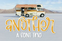 Another - A Thick Scripty Font Trio - with Shine & Outline Product Image 1