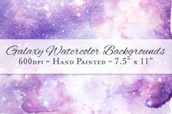 Galaxy Watercolor Ombre Backgrounds Product Image 1