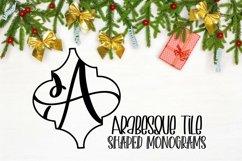Web Font Arabesque Tile Monogram Font - A-Z Lettered Frames Product Image 1