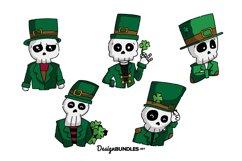 St Patrick Skull illustrations Product Image 1