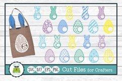 Easter Bunny and Egg Monogram Frame Bundle, SVG Cut Files Product Image 1