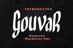 Gouvar - Handdrawn Blackletter Font Product Image 1