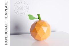 PDF Template of Orange fruit papercraft 3d Papercraft Product Image 1