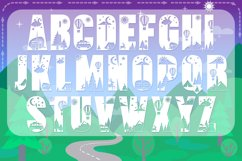 Camping Font with Extras | Hiking Font Product Image 3