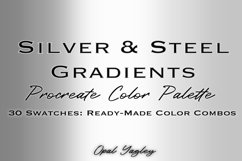Silver & Steel Gradient Procreate Metallic Color Palette Product Image 1