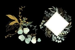Watercolor Eucalyptus Wreath Clipart. Product Image 4