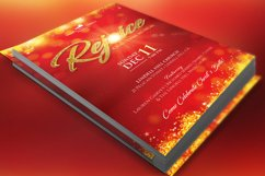 Rejoice Christmas Flyer Poster Template Product Image 1