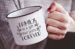 Family is a gift that lasts forever svg Family Quote clipart Product Image 3