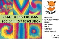 Tie Dye Patterns Digital Paper Pack Product Image 1
