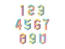 Isometric geometric letters Product Image 2
