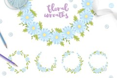 Blue Flower Baby Shower with Invitation Templates Product Image 5
