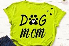 Dog mom cut file, dog mama svg, dog paw print svg, dog lover Product Image 4