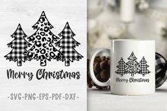 Buffalo plaid christmas tree svg Christmas designs Leopard Product Image 1