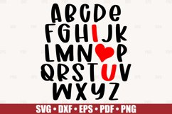 ABC I Love You SVG file for Cricut, Alphabet Valentine SVG Product Image 3