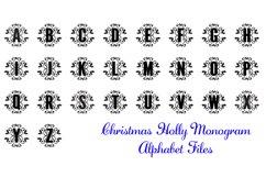 Christmas Holly Monogram & Split Alphabet Duo Product Image 5