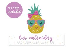 Pineapple Machine Embroidery Design, Summer Embroidery Product Image 1