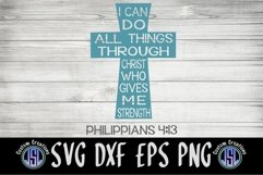 I Can Do All Things Philippians 4 13 |Faith |SVG DXF EPS PNG Product Image 2