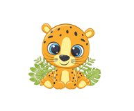 Cute Zoo Animals Clipart PNG, EPS, JPG Product Image 2