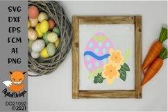 Floral Easter Egg SVG Cut File Product Image 1