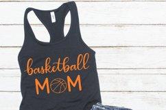 Basketball mom SVG - Sports mom SVG file, handlettered Product Image 2