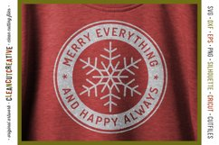 Merry Everything and Happy Always - round SVG christmas file Product Image 2