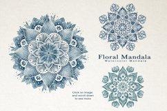 Floral Watercolor & Gold Mandala Product Image 2