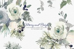 Christmas Watercolor Floral Clipart Collection Product Image 1