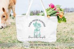 Farm Fresh Flowers SVG | Farmhouse Spring Sign Design Product Image 2