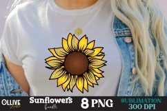 Sunflower PNG Bundle, Sunflower Sublimation PNG Product Image 3