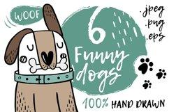 6 Cute cartoon dogs Product Image 1
