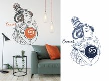 Zodiac. Beautiful girls in the zodiac signs. Digital clipart Product Image 3