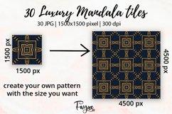 Luxury Mandala Pattern Tiles | Golden arabesque background Product Image 2