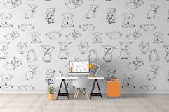 Pigs. Cute vector Stickers & Patterns Christmas graphic Pigs Product Image 2