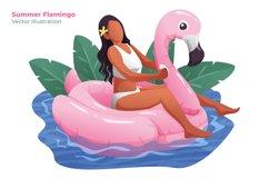 Summer Flamingo - Vector Illustration Product Image 1