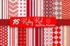 Brilliant Ruby Digital Paper Product Image 1
