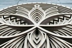 Layered Mandala SVG, Cut file Mandala, Flower mandala, Lotus Product Image 4